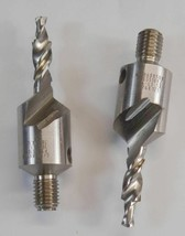 "Guhring Drivematic 3/16"" Countersink Drill Bits  1/4"" Threaded Shaft 2 C... - $12.99"