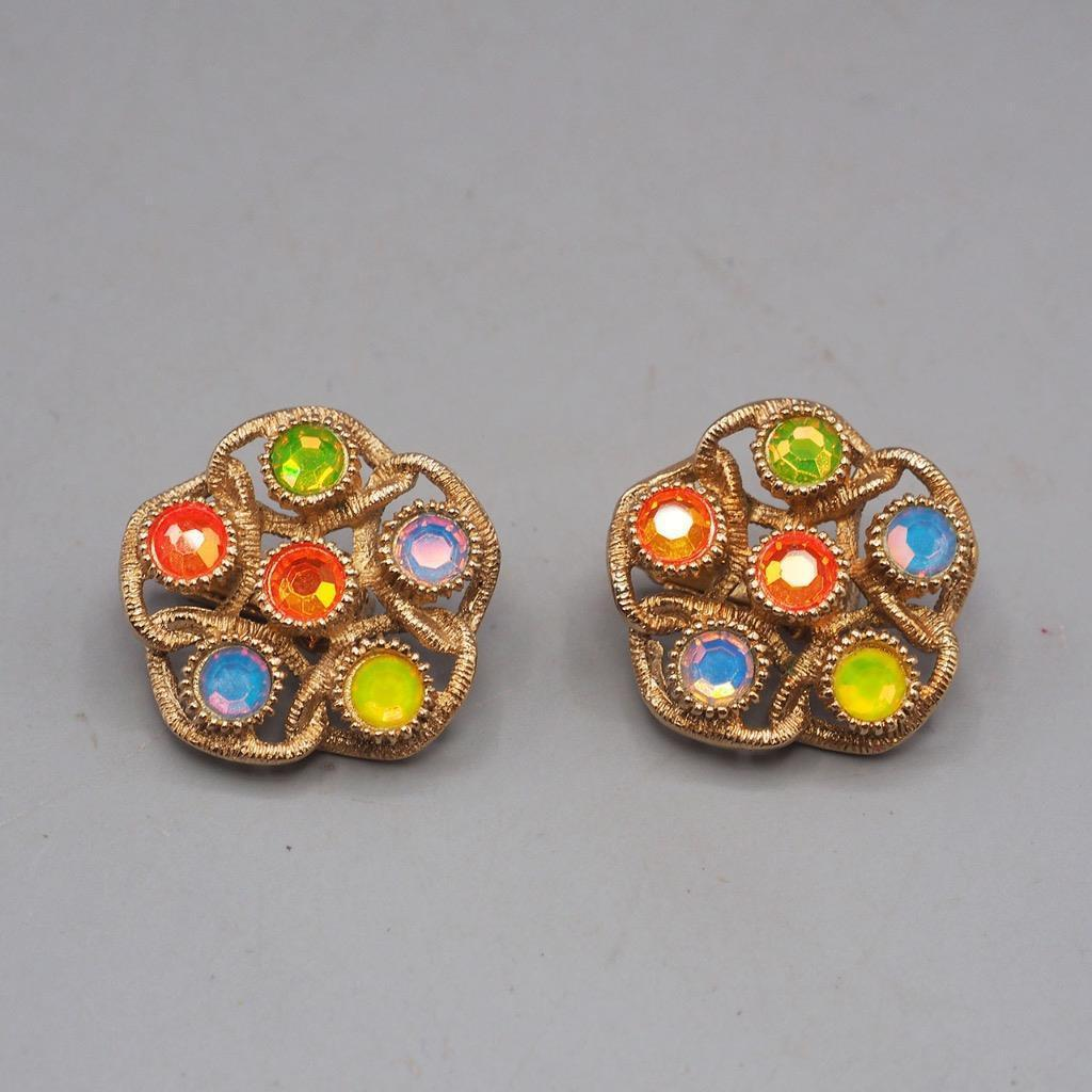 Vintage Sarah Coventry Signed Clip On Earrings Jewelry