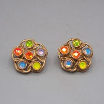 Vintage Sarah Coventry Signed Clip On Earrings Jewelry - $17.81