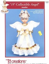 "Jennifer 15"" Collectible Angel Doll Outfit Td Creations Crochet Pattern Leaflet - $2.22"