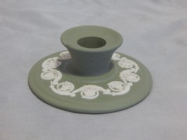 Wedgwood England Green Jasperware Candlestick - $10.89