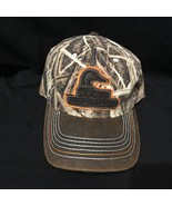 Ducks Unlimited Mossy Oak Camp Logo Adjustable trucker baseball cap hat - $10.99
