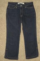 Gap Stretch Boot Cut Cropped Capri Denim Blue Jeans Size 4 - $16.69