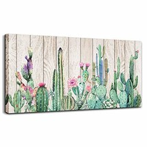 Canvas Wall Art Simple Life Green Cactus Desert Plant Painting Wall Art ... - $121.07