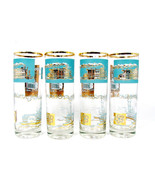 LIBBEY Mid Century Set 4 Steamboat High Ball Drinking Cocktail Glasses B... - $38.60