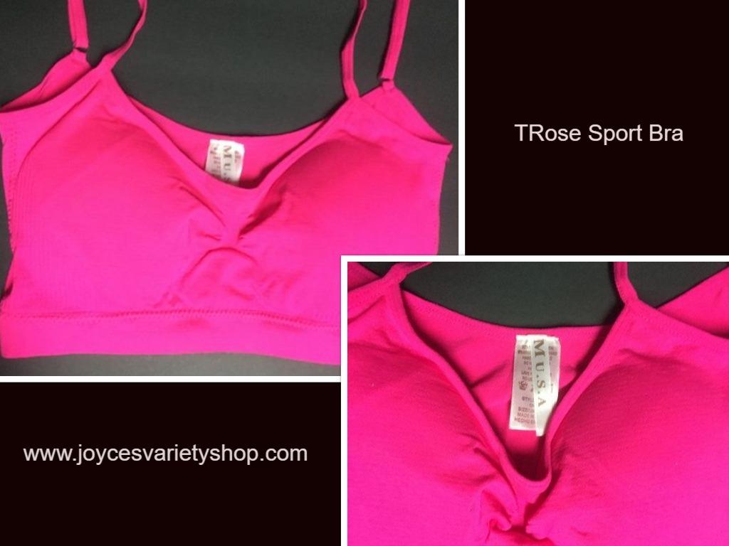 Trose sport bra thin strap web collage