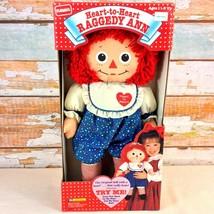 """Vintage 1992 Playskool Raggedy Ann Doll 17"""" Battery Heartbeat """"Heart to ... - $24.74"""