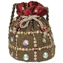 Indian Rajasthani Potli Wedding Pouch With Hand Work Code 13 - $12.89