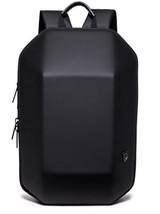 Men Black Hard Shell Backpack Anti Theft Laptop Backpack Large Computer Bag - $69.41