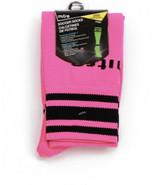Mitre Soccer Socks, Size Junior (Shoe sizes 9-2) Neon pink & Black Light... - $5.94