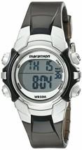 Women's Marathon by Timex Black Silver Digital Mid-Size Watch T5K805M6 NWOT - $19.94