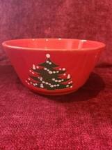 "Waechtersbach Christmas Tree 8 7/8"" Round Serving Bowl Germany  - $15.84"