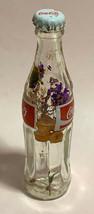 Japan Coke Coca-Cola Mini Miniature dried Purple Flowers crystal glass bottle image 2