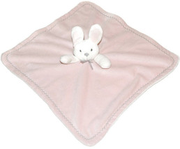 Plush Pink White Bunny Rabbit Lovey Blankets & Beyond Silver Grey Eyes Bow - $21.80 CAD