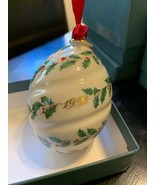 Lenox Holiday Ornament 1992 Holiday Spiral - $52.00