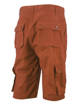 Men's Relaxed Fit Cotton Rust Multi Button Flap Pockets Cargo Shorts - 32 image 2