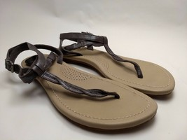 Ugg Australia Womens Size 8 Brown Slippers Ankle Strap Flipflop Thong Sandals - $37.39