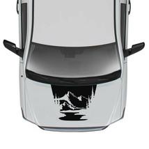 Sticker Hood Stripes for Toyota Tundra 4x4 Wrap Modern Turbo Mountain 2018 2017 - $57.00