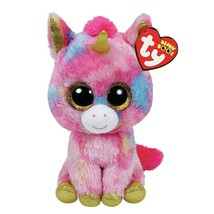 Ty Beanie Boos Unicorn Pink Colorful Stuffed Plush Animal Kids Soft Toy ... - $8.53