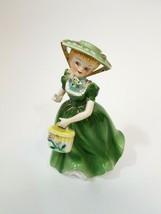 "Vntg Arnart  Figurine AA 6 ""  Flower Girl Dress Flowers Hat 7997 Crossed... - $28.04"