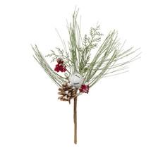 Christmas Floral Pine Berry and Snow Christmas Picks - $15.00