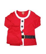 Family PJs 2-Piece Long Sleeve Santa Suit Pajama Set, Red, Size S - $29.69