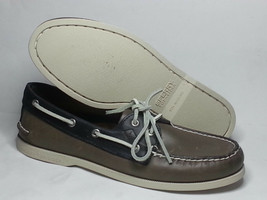 Sperry Top-Sider Men Size 9 Boat Shoes Leather Gray Blue Leather Lining  - $94.09
