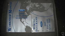 2005 Ford Explorer Sport Trac Service Shop Repair Manual Set FACTORY W EWD - $47.47