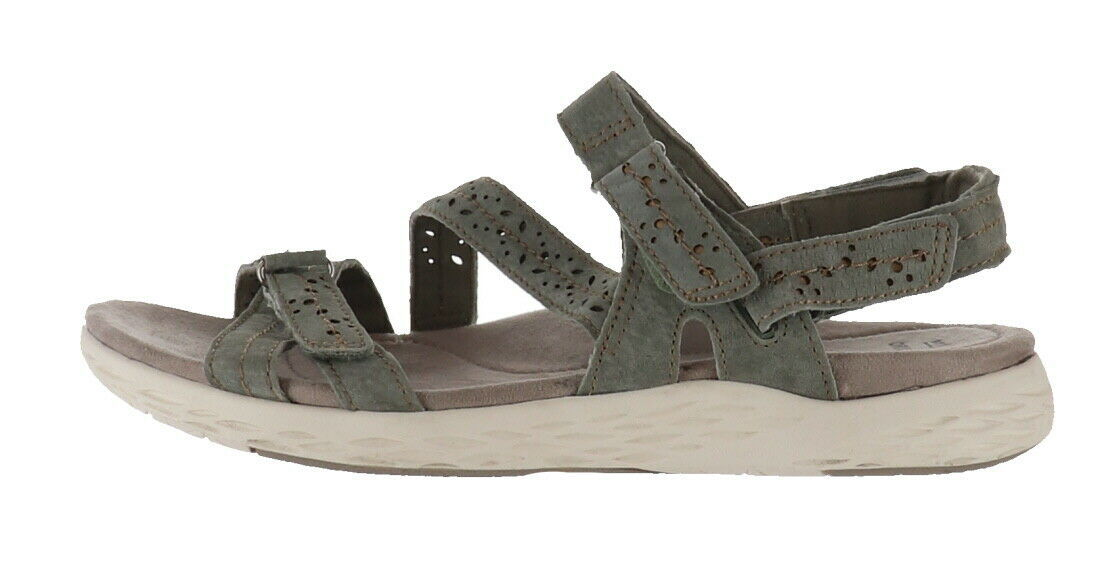 Primary image for Earth Origins Suede Sport Sandals Westfield Wendy Sage 11W NEW A352409