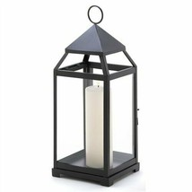Large Black Contemporary Metal Candle Lantern - $27.29