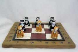 Cat figurine Tic Tac Toe 9 Piece Set - £8.84 GBP