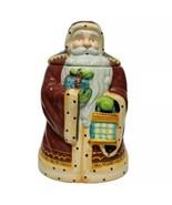 Santa Cookie Jar Christmas Cookies Old World Santa Claus Handmade for No... - $20.50