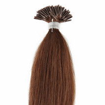 """18"""" 100grs,100s,I Tip (Stick Tip)Fusion Remy Human Hair Extensions #6 chestnut - $98.99"""