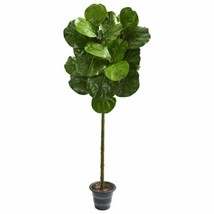 Chic Multicolor 4' Fiddle Leaf Artificial Tree With Decorative Planter - 4 Ft. - $117.78