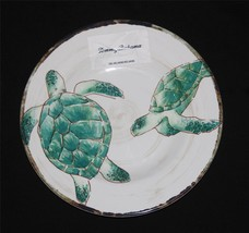 4 Tommy Bahama Green Turtles Sealife Rustic HVY DUTY Melamine Salad Plat... - $42.99