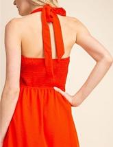Red Halter Top Dress, Red Button Up Dress, Halter Top Dress, Womens image 5