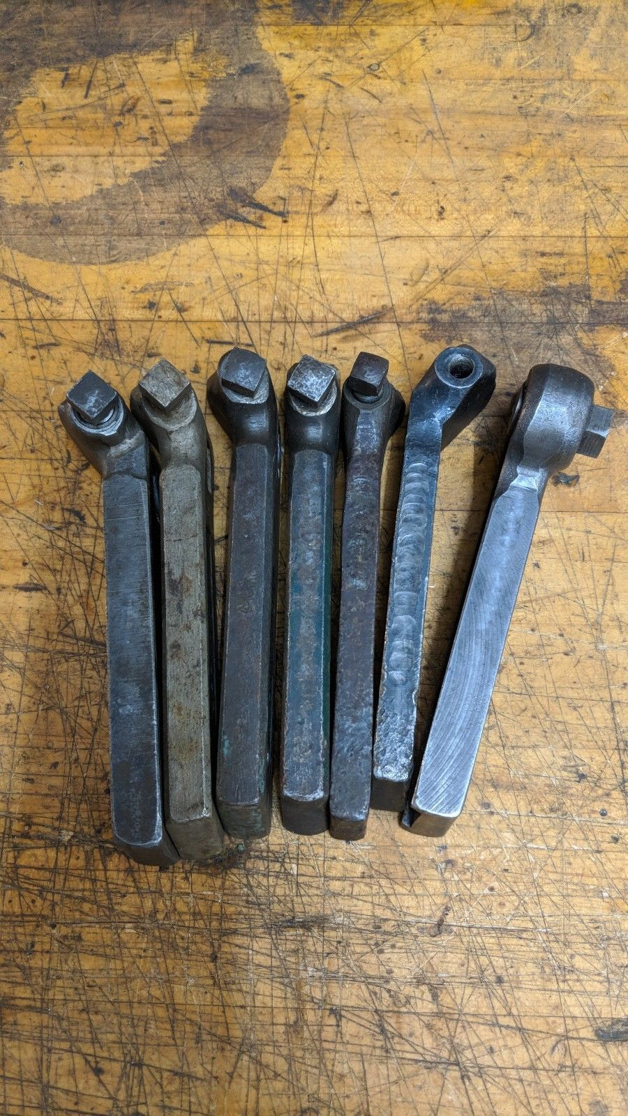 7 ASSORTED METAL LATHE LANTERN TOOL POST BIT HOLDERS ARMSTRONG JH WILLIAMS SET4
