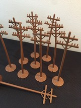 Vintage 60s Marx Brown Plastic Train Yard Utility poles (set of 10) image 2