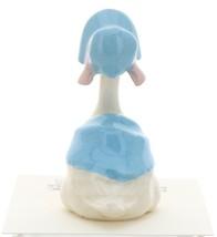 Hagen-Renaker Miniature Ceramic Bird Figurine Goose Blue Mother with Bonnet image 4