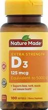 Nature Made Extra Strength Vitamin D3 125 mcg (5000 IU) Softgels, 100 Count. - $15.89