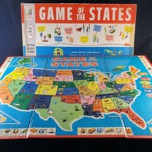VINTAGE 1960 GAME OF THE STATES BOARD GAME MILTON BRADLEY #4920  - $10.69