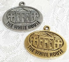 THE WHITE HOUSE FINE PEWTER PENDANT CHARM