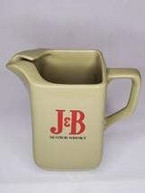 J&B Scotch Whiskey Ceramic Pitcher Wade London England vintage Whisky - $11.87