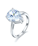 Solid 925 Sterling Silver Luxury Solitaire Pear 4.5 Ct Wedding Engagemen... - $119.99