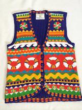 Marisa Christina Petite S PP Beach Lifeguard Ring Sweater Vest Waves Fis... - $17.99