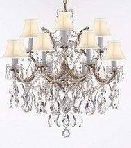 Made with Swarovski Crystal Maria Theresa Chandelier Lights Fixture Pendant Ceil - $663.75