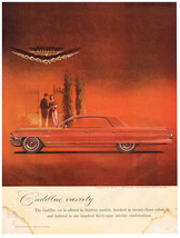 Vintage 1962 Magazine Ad for Cadillac Variety Offered in Thirteen Models - $5.93