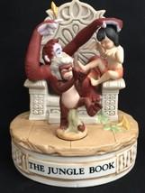 Disney Musical Memories The Jungle Book Bisque Porcelain Music Box Ltd E... - $39.99