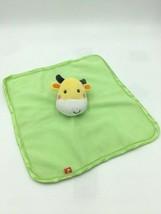 Fisher Price Green Yellow Plush Giraffe Fleece Baby Security Blanket Lovey - $9.99