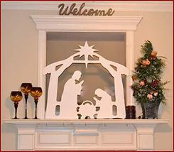 Christmas Nativity Indoor/Outdoor Mantel Display Creche Scene Window Nativity Di - $137.50